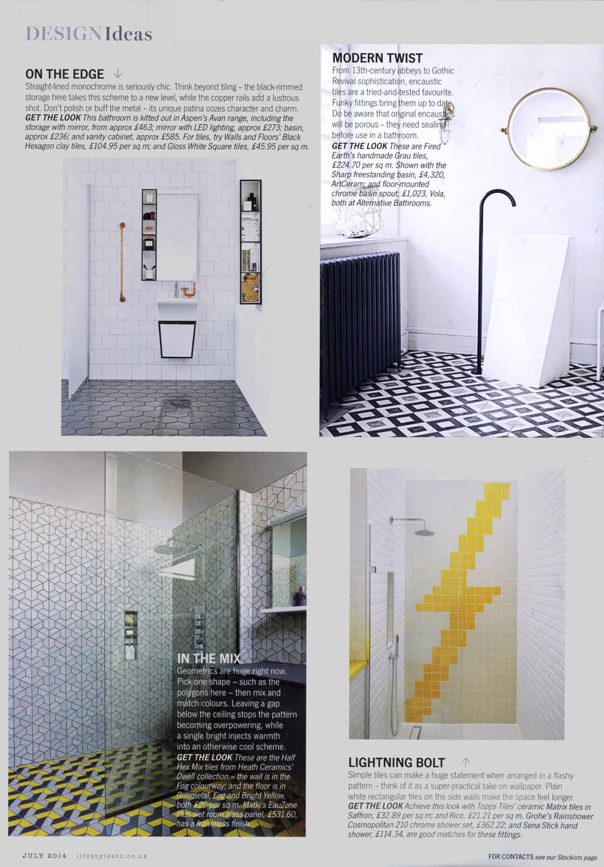 Living etc April 2015 - Alternative Bathroom Showrooms London