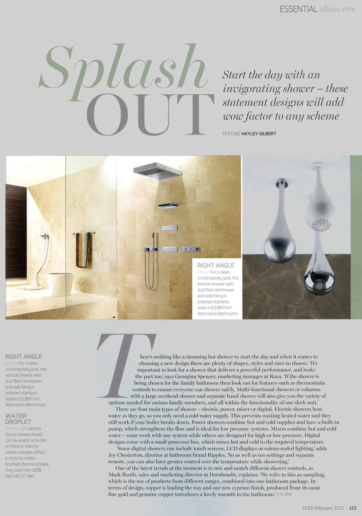 Kitchens Bedrooms   Bathrooms February 2015. Essential Kitchen Bathroom Bedroom   Alternative Bathrooms London